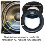 Mission 73, 73S, 73C - 1 x Foam surround for repair woofer