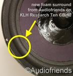 1 x Foam surround for repair most 10 inch KLH speakers