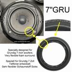 Grundig Audiorama 8000 - Reparaturset Schaumstoff Sicken