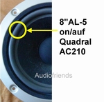 1 x Foam surround for repair Quadral AC210, Quintas 200