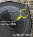 Focal 7MC2, 7C013 - 1x Foam surround for repair
