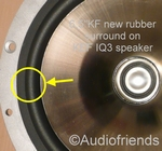 1 x RUBBER surround for repair KEF B160 Uni-Q (SP1535)