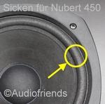 Nubert 450 - 1x Foamrand voor reparatie luidspreker
