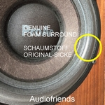 1 x Foam genuine surround Scanspeak 18W8542, 18W4208, etc.