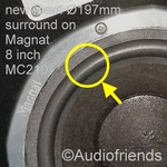1 x 8 inch Foam surround for Dahlquist DQM-7 - woofer