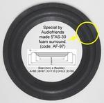 1 x Foamrand 5 inch voor reparatie Epicure Model 2 speaker
