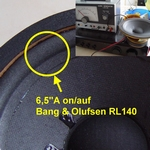 4 x Foam surrounds for Bang & Olufsen Red Line RL140