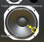 1 x Schaumstoff Sicke für Pioneer reparatie HPM-60 speaker