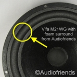 Vifa M21WG-09 - 1 x Foam surround for repair woofer