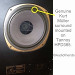"1 x GENUINE foam surround for Tannoy 15"" Dual Concentric"