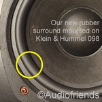 1 x RUBBER surround for repair K+H Klein und Hummel 098