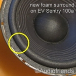 1 x Foam surround for repair Electro Voice EV MS-802 speaker