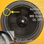 1 x Foam surround for repair MB Quart QL SP4 speaker