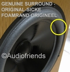 6 x GENUINE foam surrounds for T+A Solitaire/OEC 2000