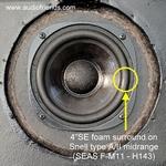 1 x Schaumstoff Sicke für Snell - Seas 11F-M H143 speaker
