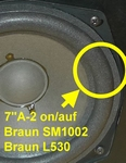 1 x Foam surround for repair Braun L530, L530s speakers