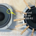 1 x Foam suround for repair Technics SB-R2 speaker