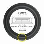 1 x Rubber surround for repair Focal 5N300, 5N312 speaker