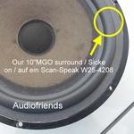 1 x Schaumstoff Sicke für Reparatur Scanspeak 25W3808 Bass