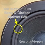 Bang & Olufsen Beovox S50 - 1x Foam surround for repair