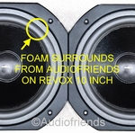 1 x Speaker repair foam surround for Revox woofer 10 inch