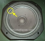 1 x Foam surround for repair Revox Atrium B woofer