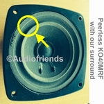1 x Foamrand voor reparatie midrange KLH SCX-3
