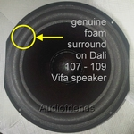 1 x GENUINE foam surround for repair Dali 107 speaker
