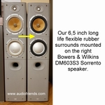 1 x RUBBER surround for Bowers & Wilkins DM603 woofer