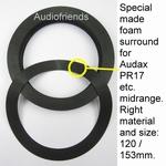 1 x Speciale foamring voor reparatie Audax MHD17 midrange