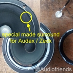 4 x Special foam surrounds for Audax PR17, MHD17, HD17