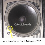 Mission 762 - Repairkit FOAM surrounds for repair speakers