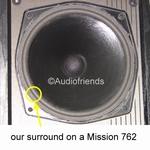 Mission 764 - Repairkit FOAM surrounds for repair speakers