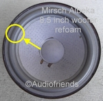 1 x Foam surround for repair Mirsch OM110 woofer - Kurt M.