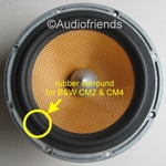 B&W Bowers & Wilkins CM2 / CM4 rubber surround repair