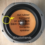 Bowers & Wilkens - 20 x RUBBER rand 6,5 inch woofer