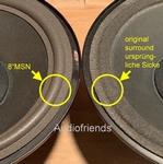 B&O MC120-2, M150 - 1x Foam surround mid/low for repair