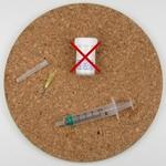 1 x Injectiespuit 5ml. met stompe naald en dop tbv. lijm