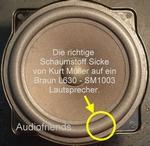 Braun L630 Reparatiekit foamranden voor speaker