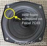 7 inch FOAM rand voor speaker reparatie