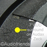 7 inch FOAM FLAT surround for speaker repair Audax/Zeck