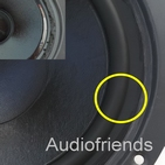 6,5 inch RUBBER surround for speaker repair