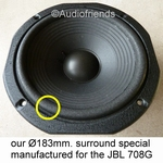 8 inch FOAM surround for speaker repair JBL 708G-1|G-2|G-3