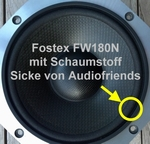 8 inch FOAM surround for repair Fostex FW180/FW180N