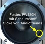 8 inch FOAM surround for repair Fostex FW180/FW180N