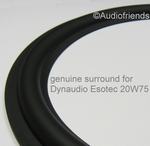 7 inch RUBBER Kurt Müller surround > Dynaudio Esotec 20W100
