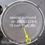 15 inch FOAM surround for speaker repair JBL L2235