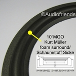 10 inch RUBBER Kurt Müller surround for Revox/Magnat