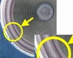 10 inch FOAM rand voor speaker reparatie