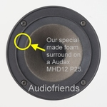 Audax MHD12 P25 - 1 x Foam surround for repair